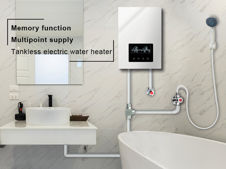 electric shower water